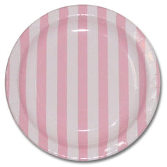 Pink party Striped Plates Plates, Cups & Napkins Baby Pink Ice Cream Party Fairy Party Baby Shower Girl Baby Shower - Girl Owl Party Carousel Party Flamingo Party Rock'n'Roll Party - Girl