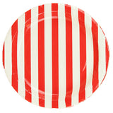 Striped Plates - Red