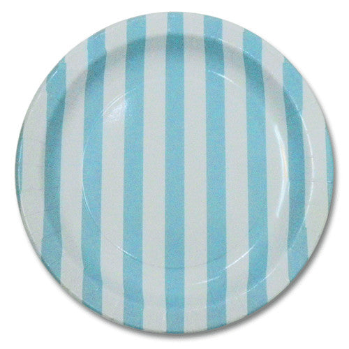 Blue party Striped Plates Plates, Cups & Napkins Blue Ice Cream Party Carnival Party Baby Shower Boy Baby Shower - Boy Rock'n'Roll Party - Girl