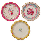 Tea Party Plates - Tea Party Plates with 3 floral design, ideal for a tea party birthday party