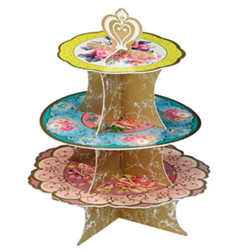 Tea Party - Cupcake Stand - 3 Tier