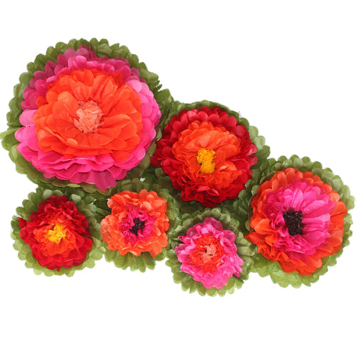 Fiesta Tissue Paper Flower Set (6 per Pack)