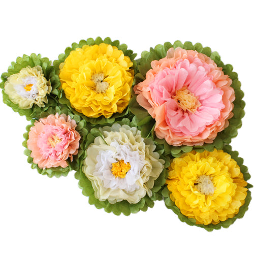 Romantic Tissue Paper Flower Set (6 per Pack)