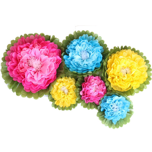 Garden Tissue Paper Flower Set (6 per Pack)