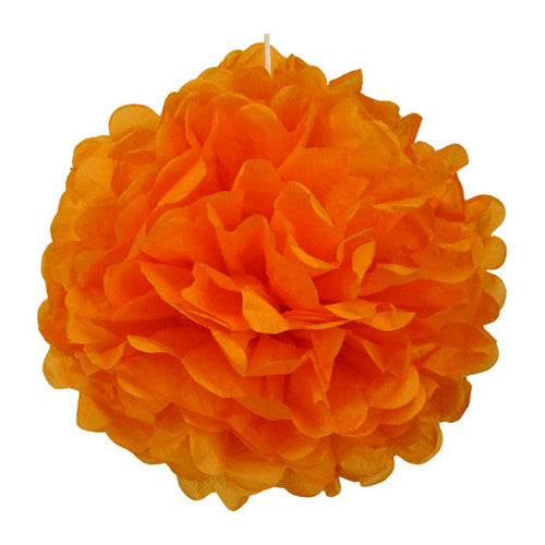 Pom poms  Orange Mexican Fiesta Halloween Day of the Dead Party Halloween Party Essentials