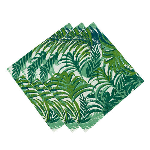 Tropical Napkins with green palm tree design