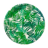Tropical Plates - Tropical Plates with green palm tree design