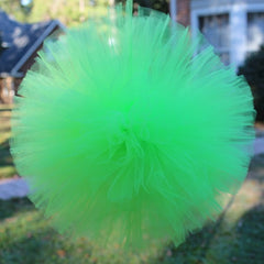Tulle Pom Pom Apple Green