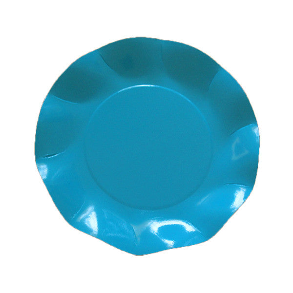 blue turquoise scalloped party plates Plates, Cups & Napkins Blue Flamingo Party