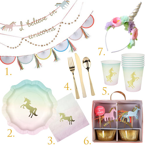 Unicorn Party in a Box for 12