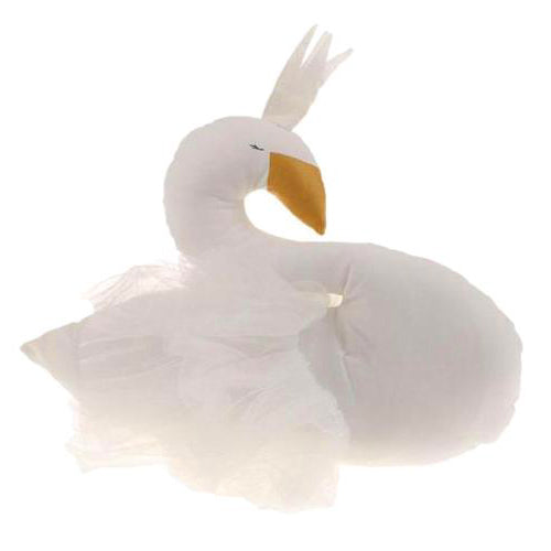 Stuffed White Swan