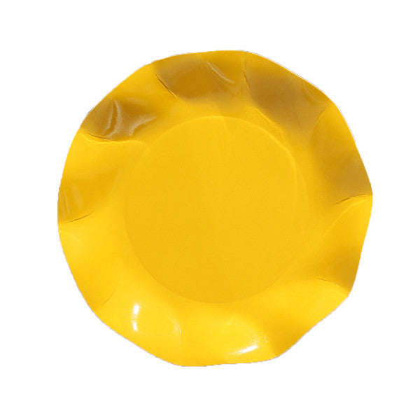 Yellow scalloped party plates Plates, Cups & Napkins Yellow