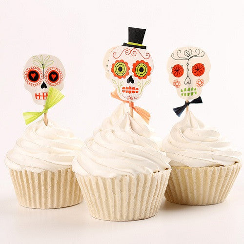 Day of the Dead Cupcake Toppers
