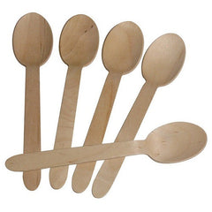 Wooden Spoons - Natural - Full size Floral Fiesta Party