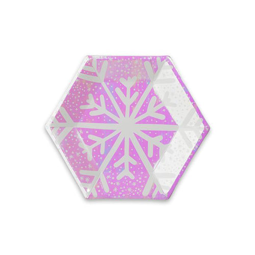 FROSTED PARTY PLATES - SMALL