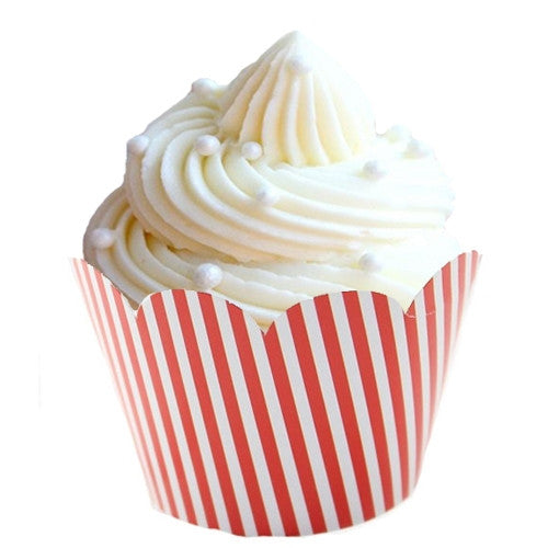 Red and white striped cupcake wrappers Cupcake Wrappers & Liners Red Carnival - Circus Party Firefighter Party Rock'n'Roll Party