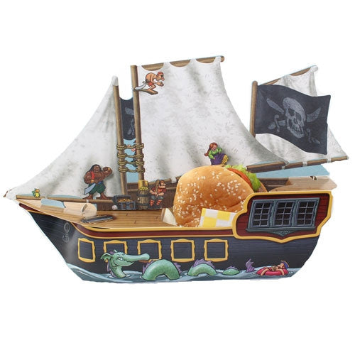Pirate Ship party favor boxes perfect  for your kids' pirate Birthdays Party.