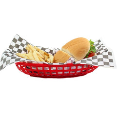 Red Oval Deli Basket 4th of July Party