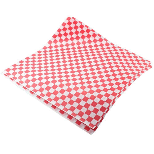 Check Deli Wrap Paper - Red 4th of July Party
