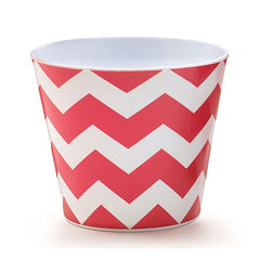 Red Chevron melamine bowl