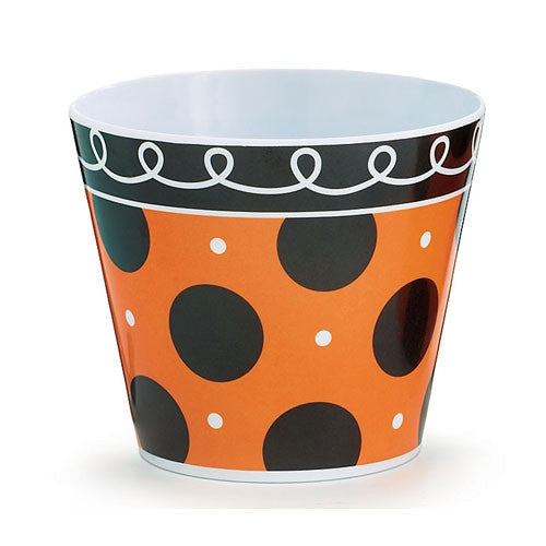 Bowl - Halloween Polka Dots Orange Black