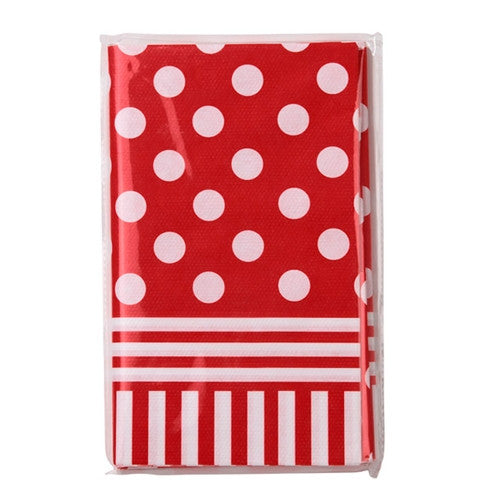 Red and White Polka Dot Table Cover