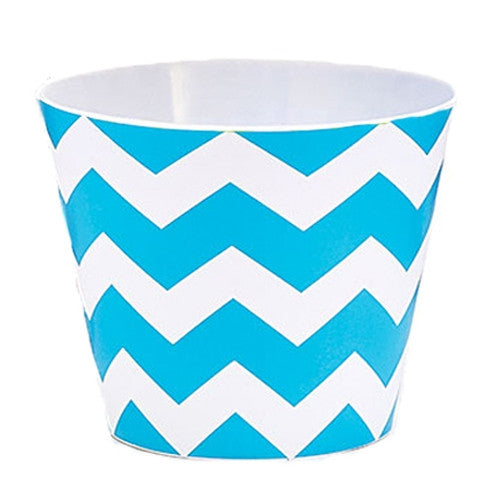 Blue Chevron Bowl
