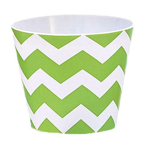 Green Chevron Melamine Bowl