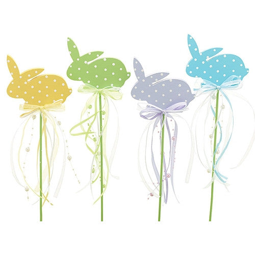 Picks - Easter Bunnies yellow green lavender blue