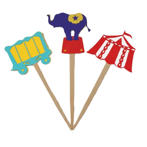 Circus Carnival Cupcake Toppers