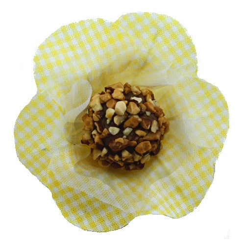 Petite Blossom Cups - Isabella - Gingham - Yellow (25 per Pack)