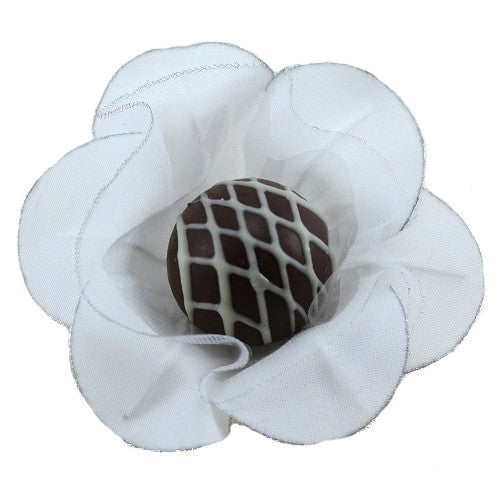 Petite Blossom Cups - Isabella - White & Silver (25 per Pack)