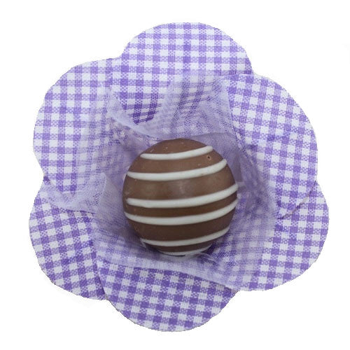 Petite Blossom Cups - Isabella - Gingham - Violet (25 per Pack)
