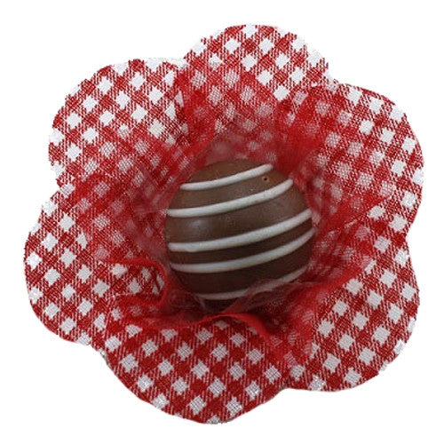 Petite Blossom Cups - Isabella - Gingham - Red (25 per Pack)