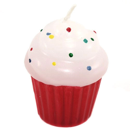 Frosted Cupcake Candle - Rasberry Pink