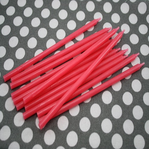 Extra Long Cake Candles -  Red