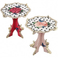 Mini Cupcake Stands with a red and pink floral design