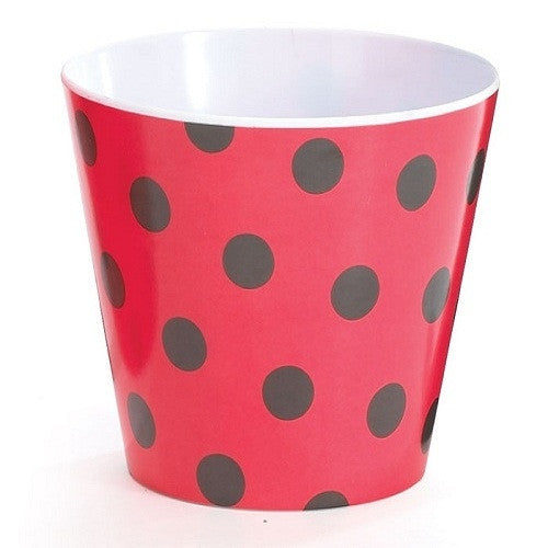 Ladybug Melamine Bowl Polka dots black red