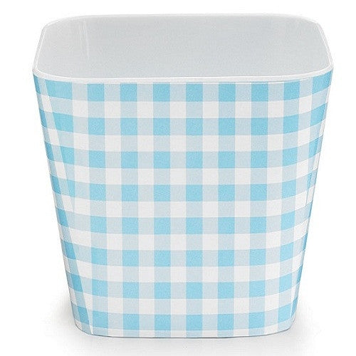 Melamine Bowl - Gingham - Blue