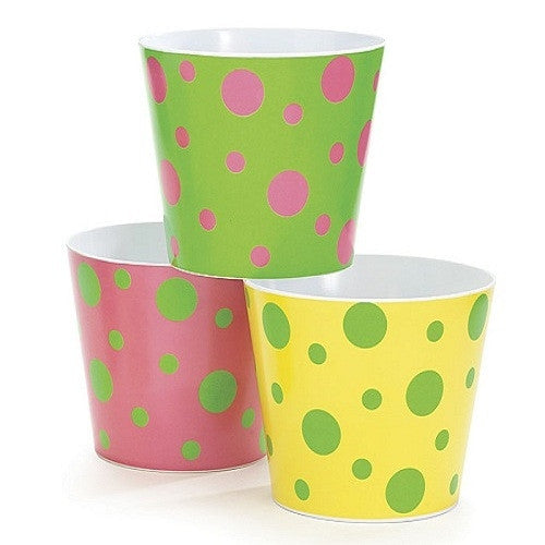 Polka Dots Bowls pink green yellow