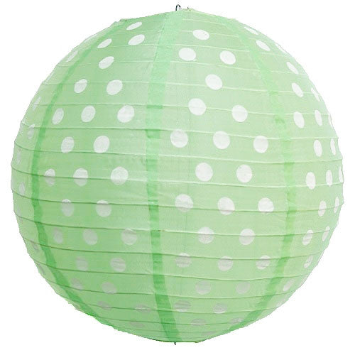 Polka Dot Lantern - Green