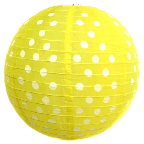 Polka Dot Lantern - Yellow