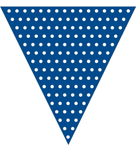 Navy Blue Polka dot flag banner