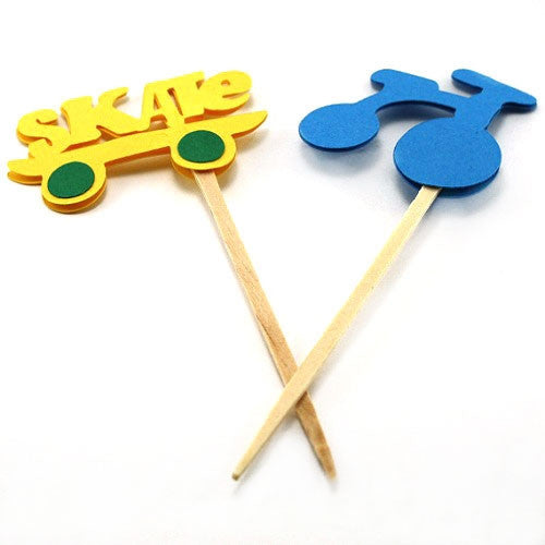 Skate and Bike Cupcake Toppers