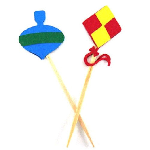 Kite and Top Cupcake Toppers