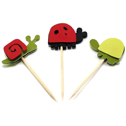 Ladybug and Friends Cupcake Toppers