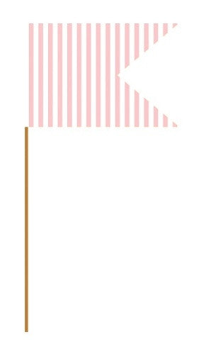 Baby Pink Cupcake Flag Picks