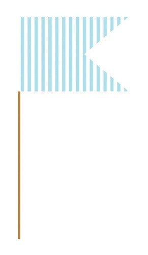 Baby Blue Cupcake Flag Picks