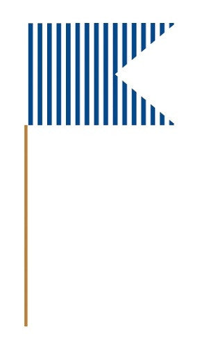 Navy Blue Cupcake Flag Picks