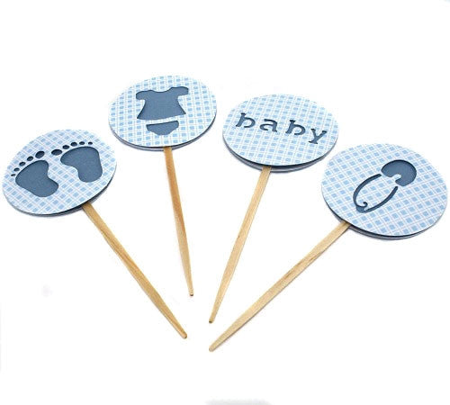 CupcakeToppers - It's a Boy! Baby Blue